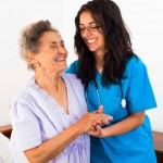 helping elderly patient