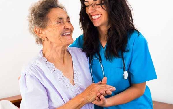 helping elderly patient