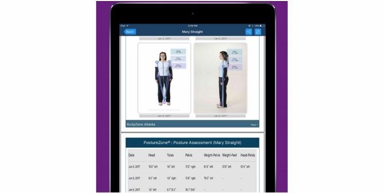 Posture Reports Using PostureZone App