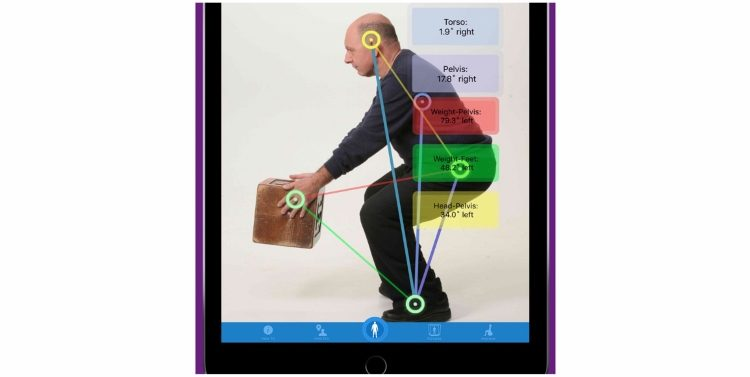 posturezone app with posture lines