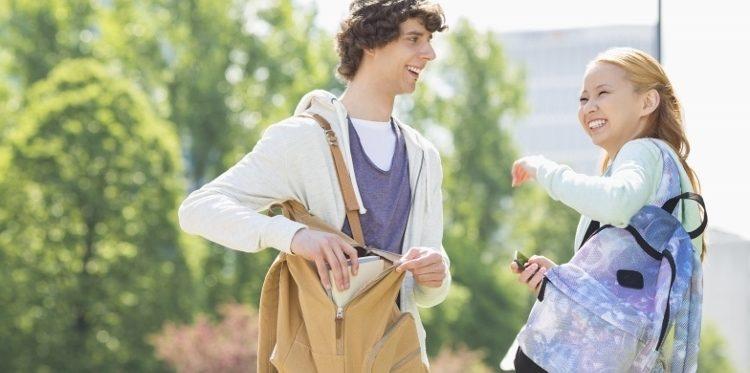 teens and heavy backpacks